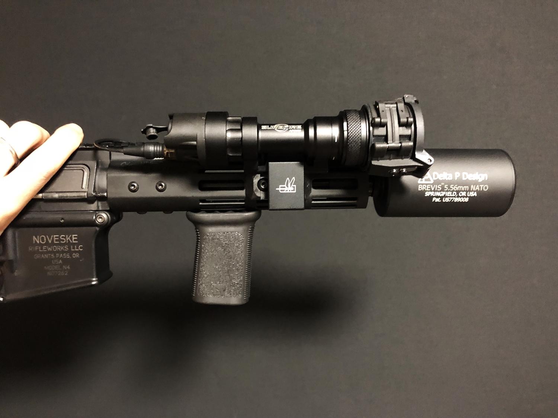 23 SUREFIRE M952V TYPE & HALEY STRATEGIC TYPE PICATINNY LIGHT MOUNT & M-LOK MAGPUL PTS Enhanced Rail Section ERS 3 オフセット セッティング カスタム 購入 開封 取付 分解 実物 レプリカ 比較 レビュー