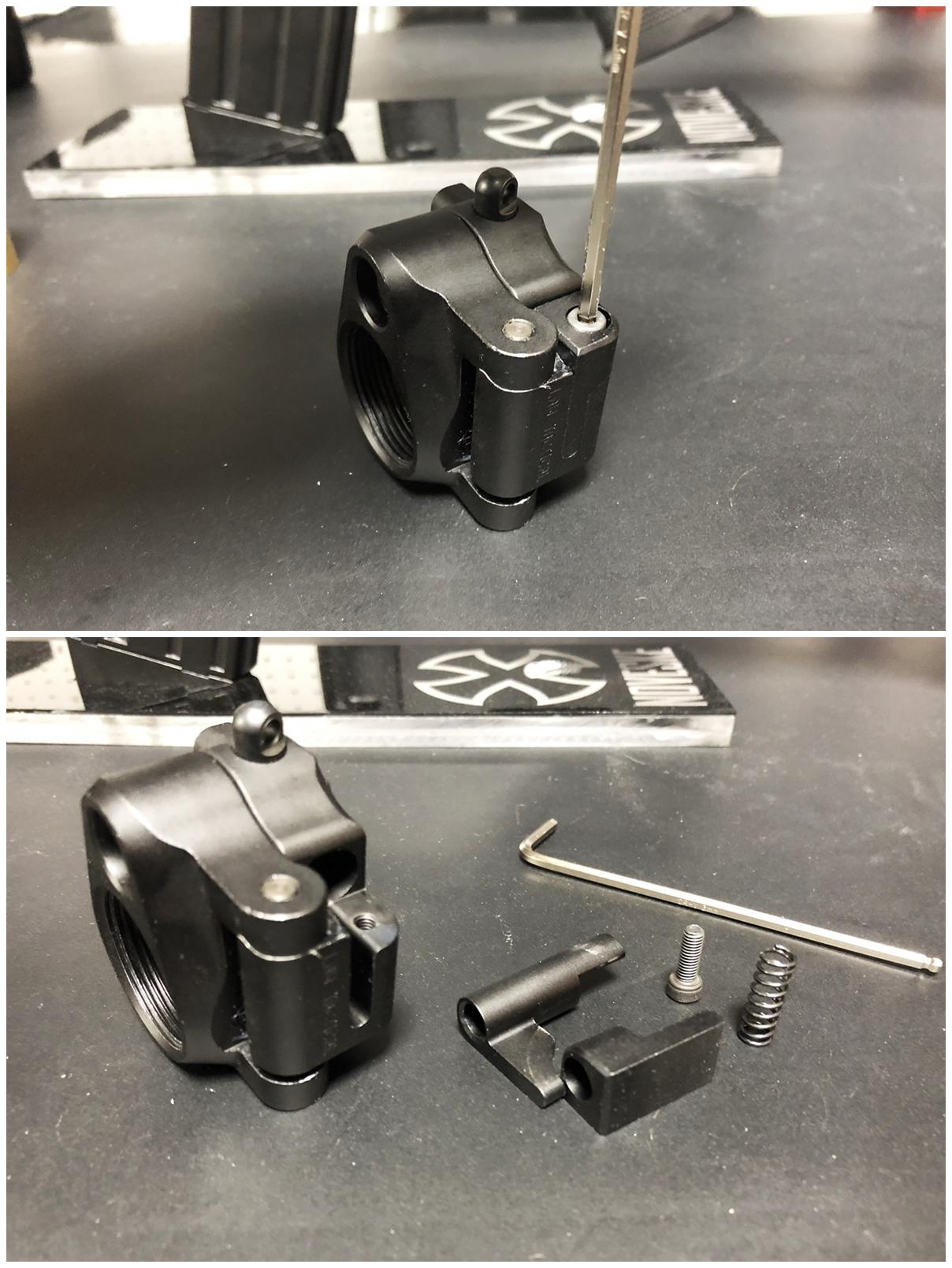 11 次世代 M4 CQB-R 電動ガン 実物 KAK ストック 取付 改造 カスタム 大作戦 第五弾!! やっと加工を再開!! 実銃 ストックパイプ AR フォールディング アダプター ダイス ネジ タップ 切り 加工 仮組 取付 道具 購入