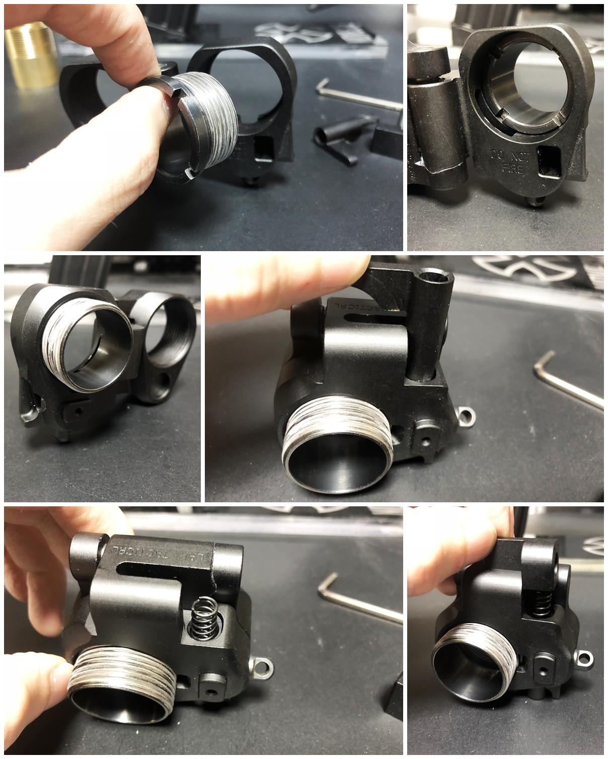 12 次世代 M4 CQB-R 電動ガン 実物 KAK ストック 取付 改造 カスタム 大作戦 第五弾!! やっと加工を再開!! 実銃 ストックパイプ AR フォールディング アダプター ダイス ネジ タップ 切り 加工 仮組 取付 道具 購入