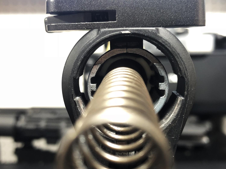 17 次世代 M4 CQB-R 電動ガン 実物 KAK ストック 取付 改造 カスタム 大作戦 第五弾!! やっと加工を再開!! 実銃 ストックパイプ AR フォールディング アダプター ダイス ネジ タップ 切り 加工 仮組 取付 道具 購入