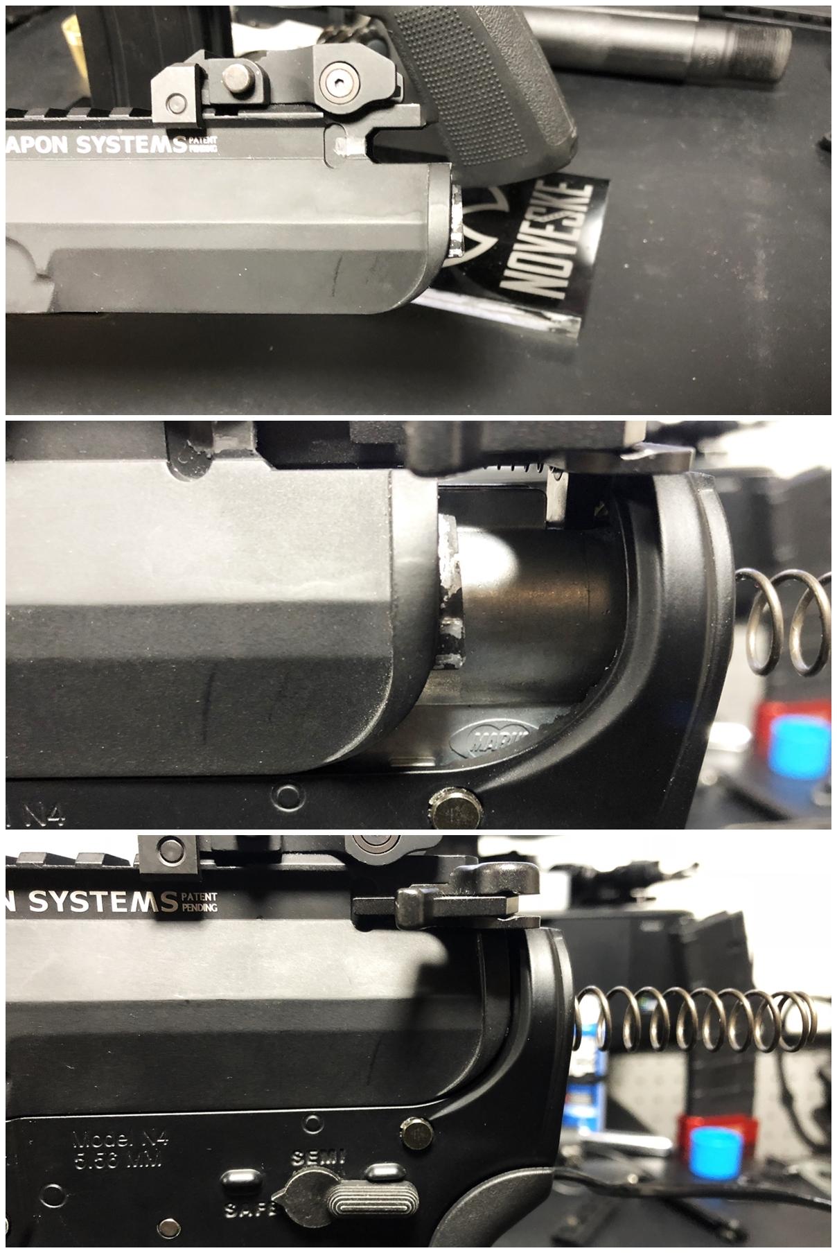 25 次世代 M4 CQB-R 電動ガン 実物 KAK ストック 取付 改造 カスタム 大作戦 第五弾!! やっと加工を再開!! 実銃 ストックパイプ AR フォールディング アダプター ダイス ネジ タップ 切り 加工 仮組 取付 道具 購入
