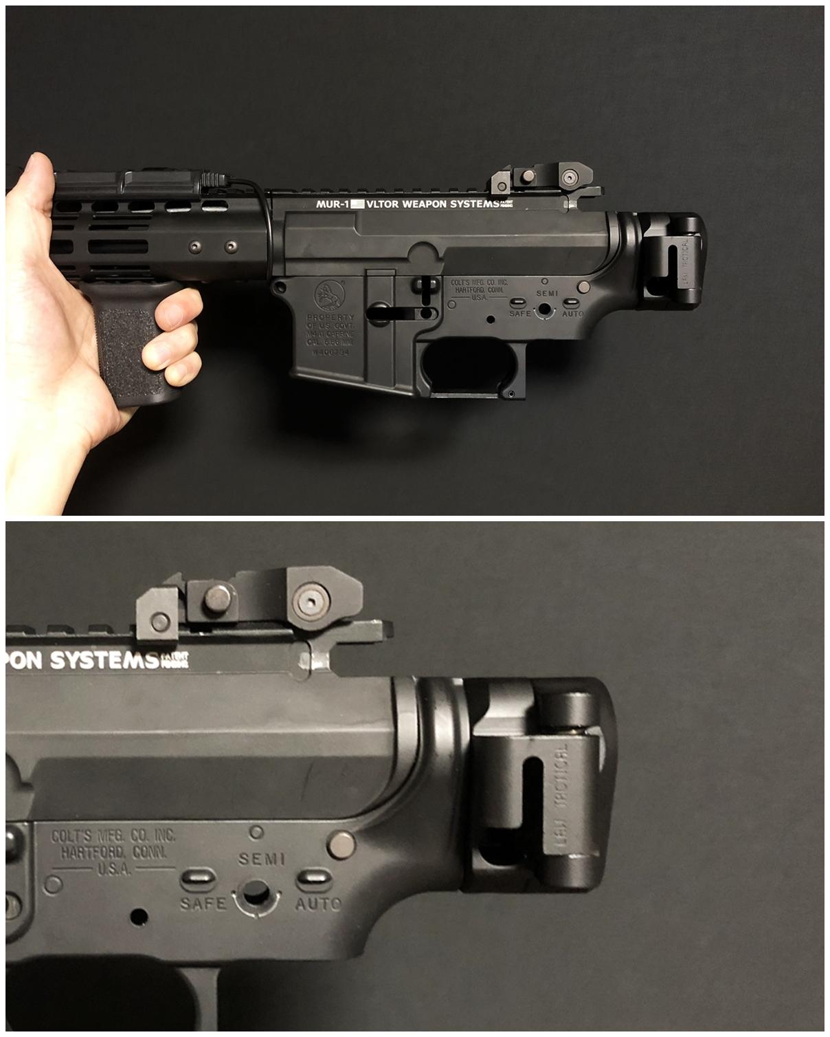 27 次世代 M4 CQB-R 電動ガン 実物 KAK ストック 取付 改造 カスタム 大作戦 第五弾!! やっと加工を再開!! 実銃 ストックパイプ AR フォールディング アダプター ダイス ネジ タップ 切り 加工 仮組 取付 道具 購入