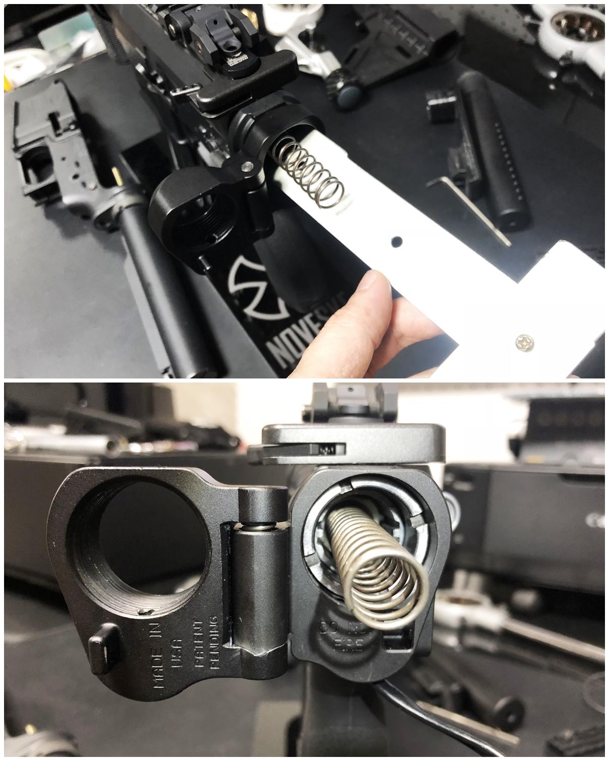 29 次世代 M4 CQB-R 電動ガン 実物 KAK ストック 取付 改造 カスタム 大作戦 第五弾!! やっと加工を再開!! 実銃 ストックパイプ AR フォールディング アダプター ダイス ネジ タップ 切り 加工 仮組 取付 道具 購入