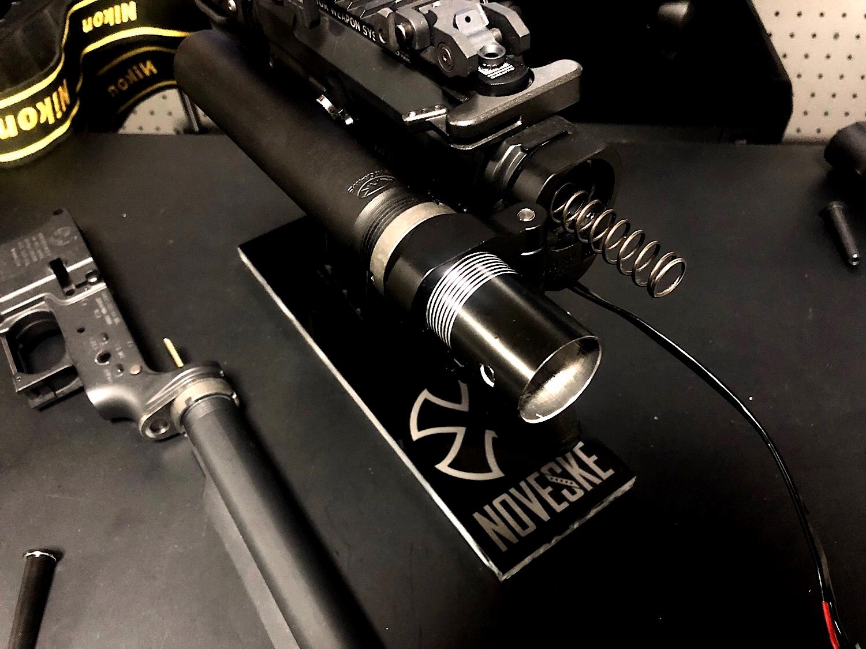 2 次世代 M4 CQB-R 電動ガン 実物 KAK SHOCKWAVE BLADE PISTOL AR-15 ストック 取付 改造 カスタム 大作戦 第六弾!! オリジナル次世代リコイル製作&溶接・ネジタップ 3Dプリントパーツ製作作業!! 実銃 ストックパイ