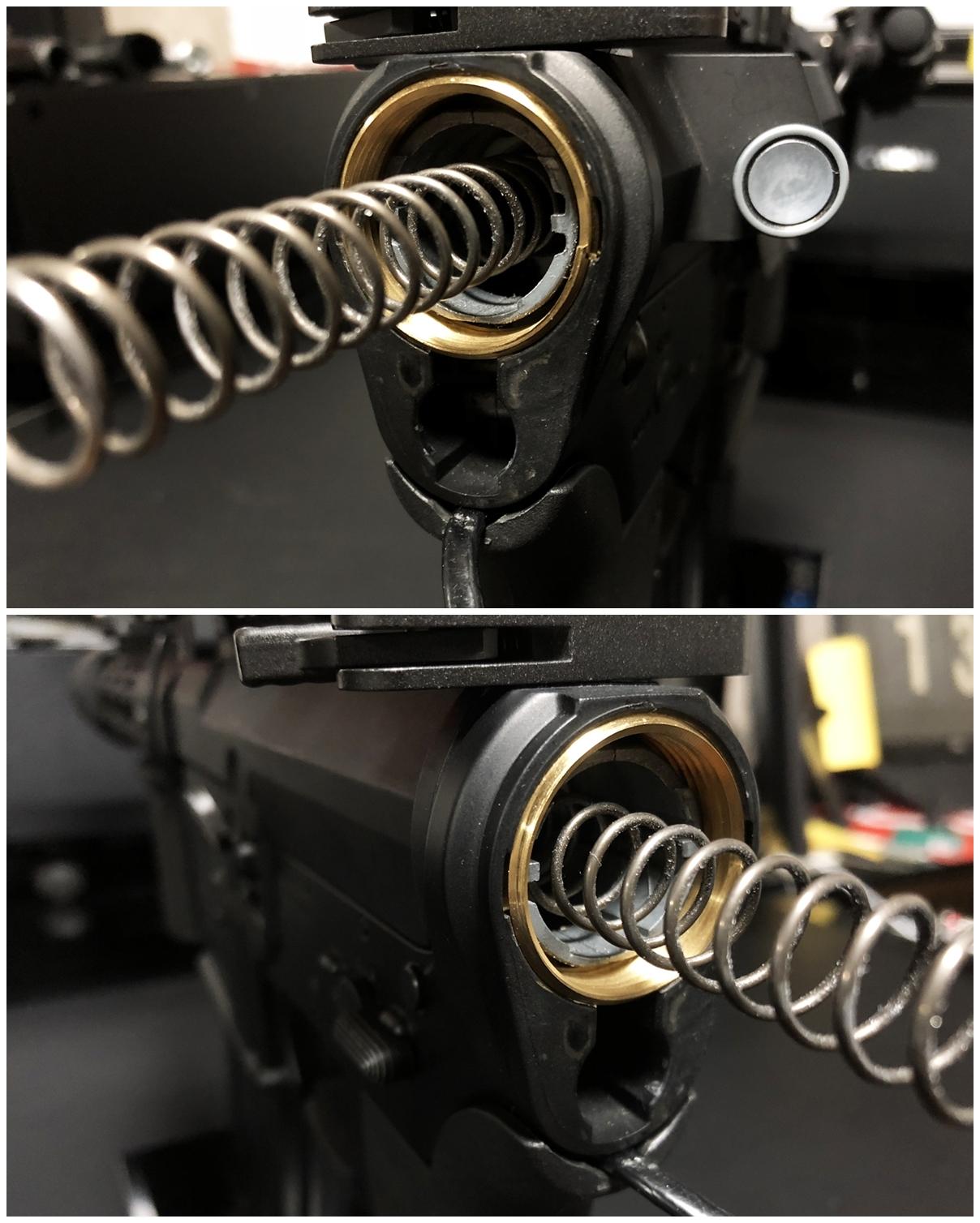 5 次世代 M4 CQB-R 電動ガン 実物 KAK SHOCKWAVE BLADE PISTOL AR-15 ストック 取付 改造 カスタム 大作戦 第7弾完結!! 最終 組み立て作業 & 初速 調整!! 実銃 ストックパイプ AR フォールディング 取付 リコイル ス