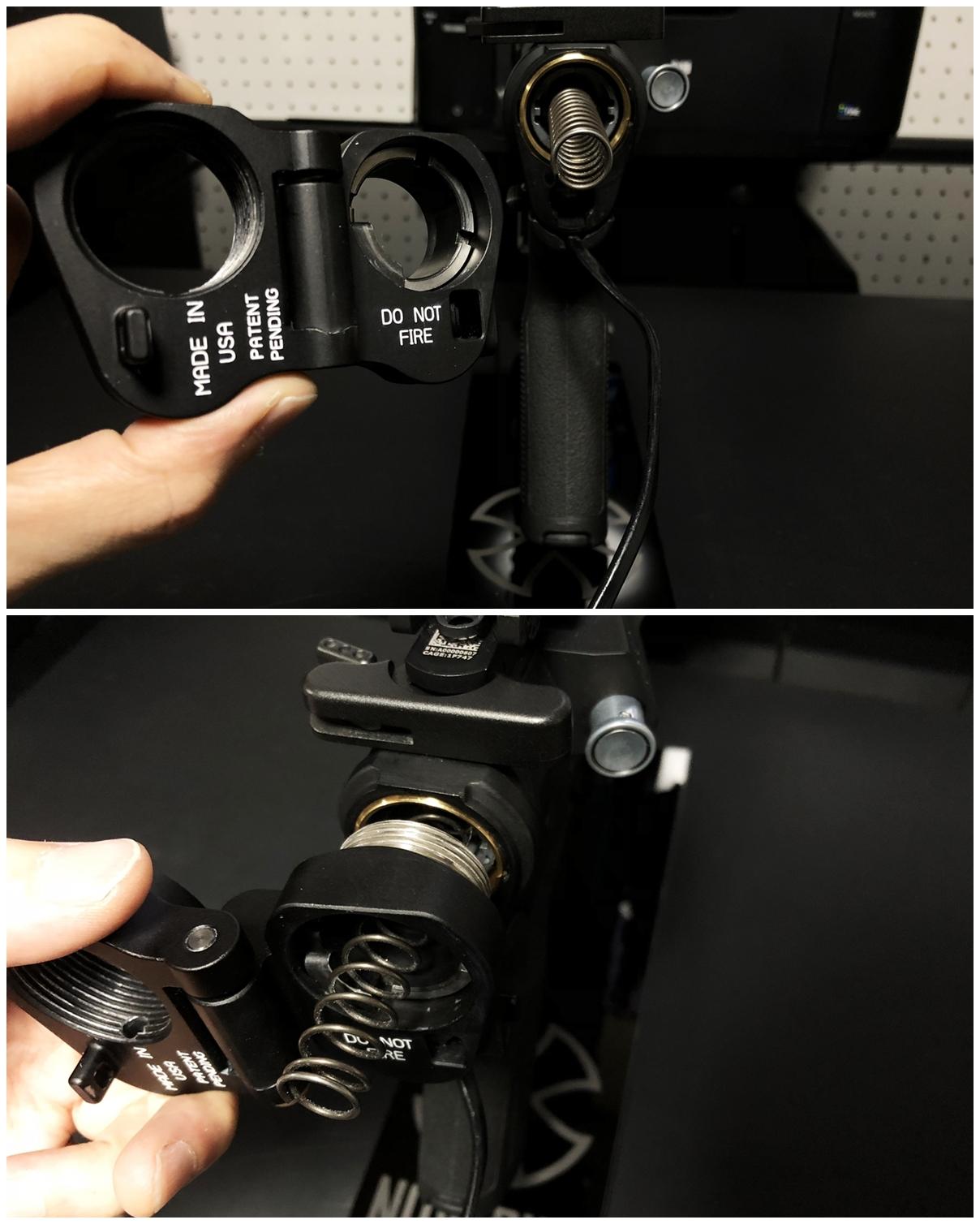 9 次世代 M4 CQB-R 電動ガン 実物 KAK SHOCKWAVE BLADE PISTOL AR-15 ストック 取付 改造 カスタム 大作戦 第7弾完結!! 最終 組み立て作業 & 初速 調整!! 実銃 ストックパイプ AR フォールディング 取付 リコイル ス