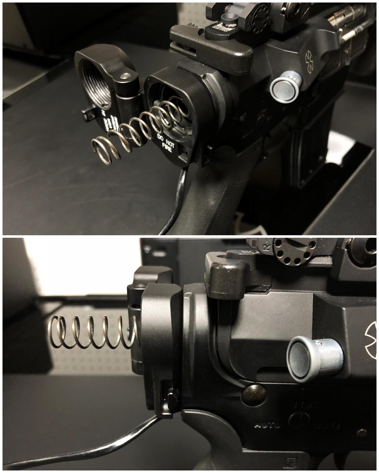 12 次世代 M4 CQB-R 電動ガン 実物 KAK SHOCKWAVE BLADE PISTOL AR-15 ストック 取付 改造 カスタム 大作戦 第7弾完結!! 最終 組み立て作業 & 初速 調整!! 実銃 ストックパイプ AR フォールディング 取付 リコイル