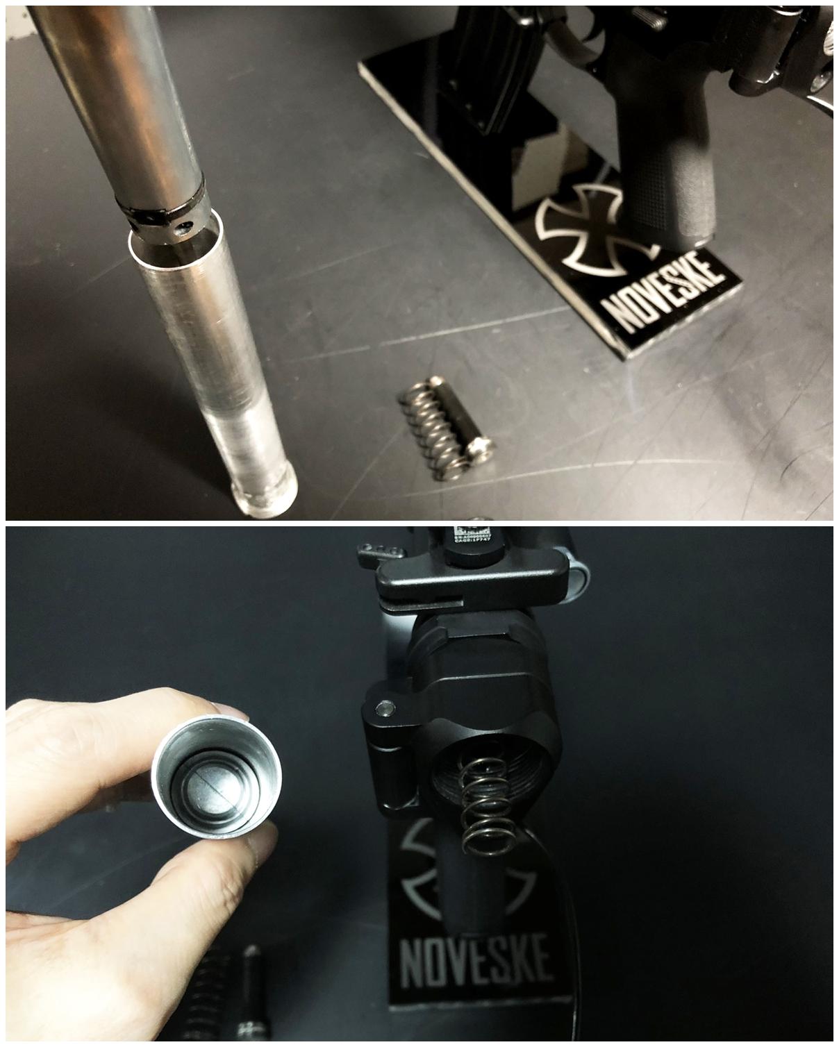 18 次世代 M4 CQB-R 電動ガン 実物 KAK SHOCKWAVE BLADE PISTOL AR-15 ストック 取付 改造 カスタム 大作戦 第7弾完結!! 最終 組み立て作業 & 初速 調整!! 実銃 ストックパイプ AR フォールディング 取付 リコイル
