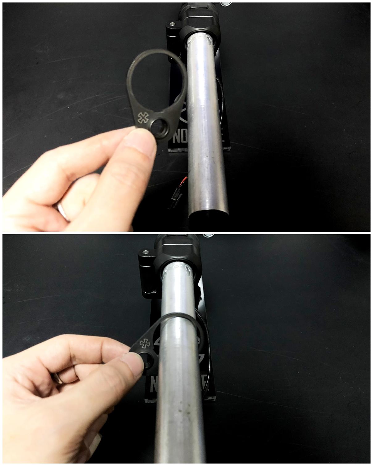 27 次世代 M4 CQB-R 電動ガン 実物 KAK SHOCKWAVE BLADE PISTOL AR-15 ストック 取付 改造 カスタム 大作戦 第7弾完結!! 最終 組み立て作業 & 初速 調整!! 実銃 ストックパイプ AR フォールディング 取付 リコイル