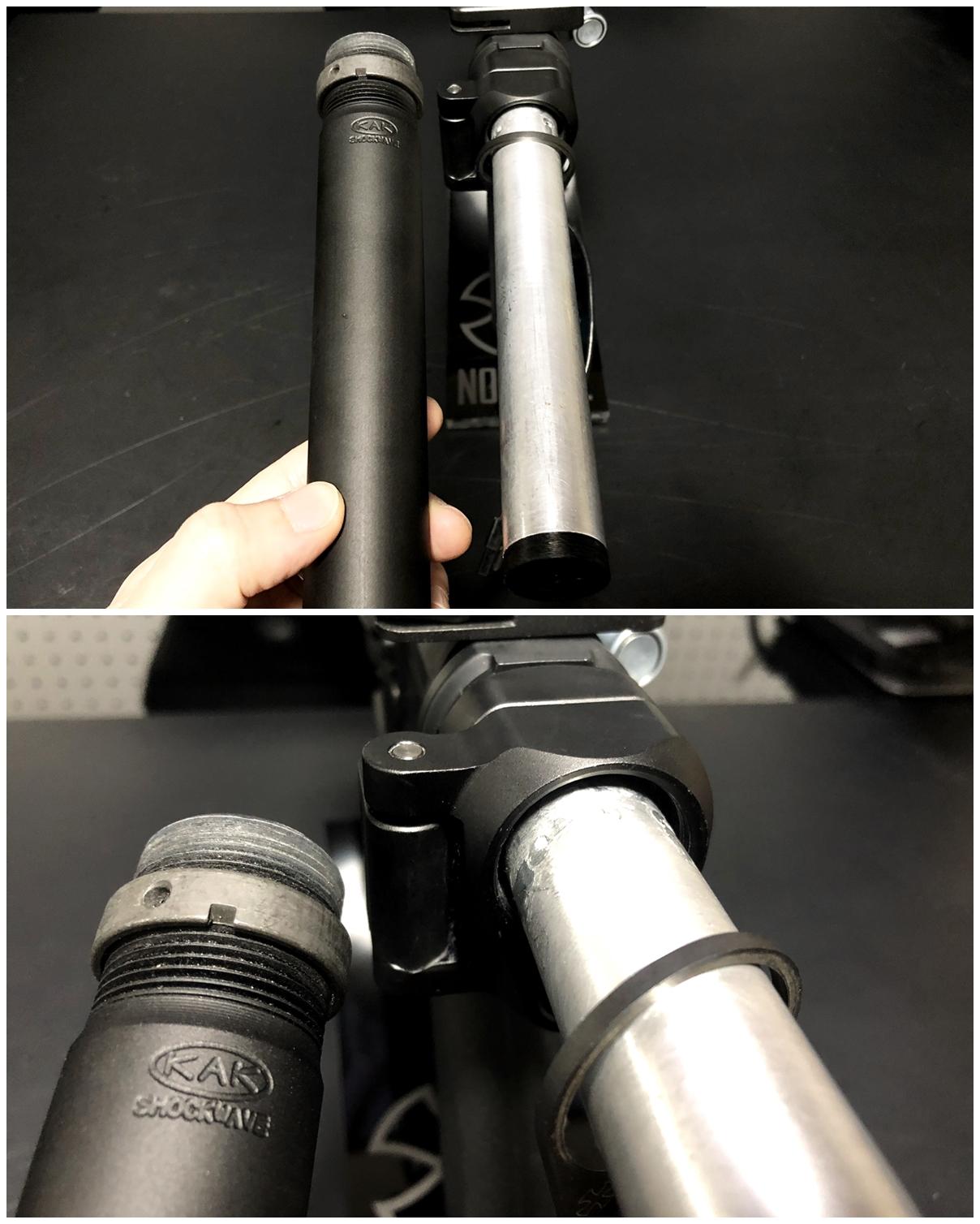 28 次世代 M4 CQB-R 電動ガン 実物 KAK SHOCKWAVE BLADE PISTOL AR-15 ストック 取付 改造 カスタム 大作戦 第7弾完結!! 最終 組み立て作業 & 初速 調整!! 実銃 ストックパイプ AR フォールディング 取付 リコイル