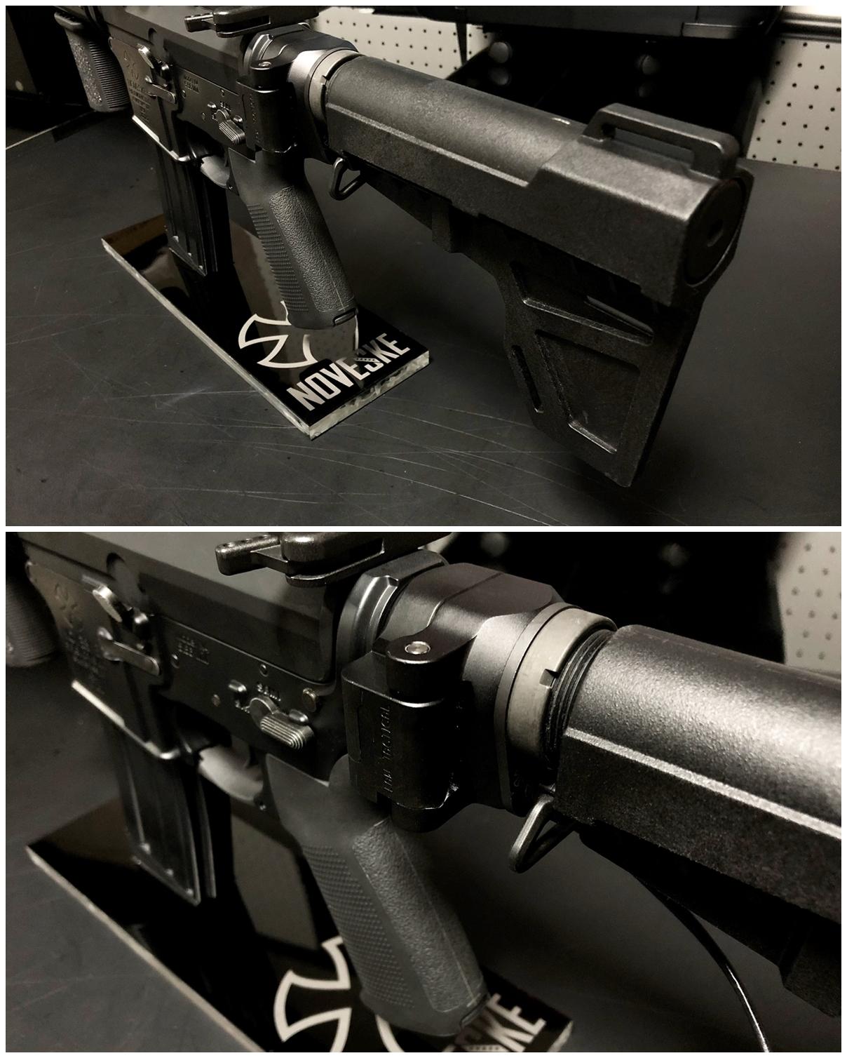 34 次世代 M4 CQB-R 電動ガン 実物 KAK SHOCKWAVE BLADE PISTOL AR-15 ストック 取付 改造 カスタム 大作戦 第7弾完結!! 最終 組み立て作業 & 初速 調整!! 実銃 ストックパイプ AR フォールディング 取付 リコイル