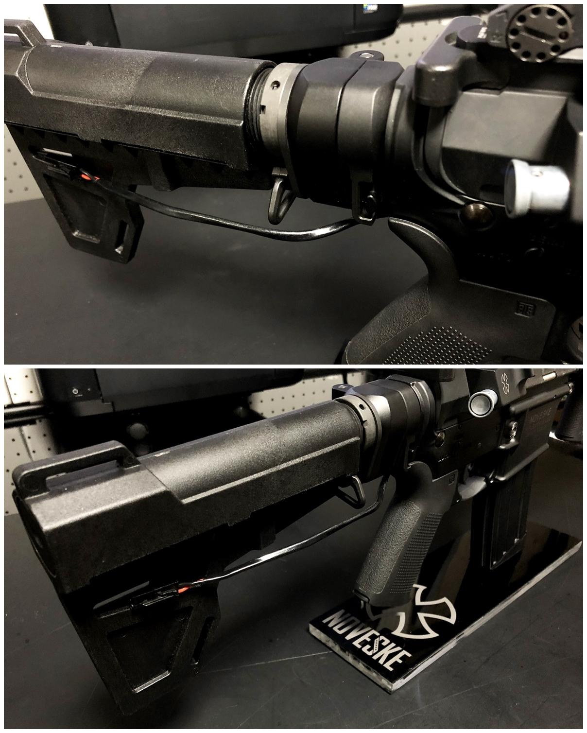 35 次世代 M4 CQB-R 電動ガン 実物 KAK SHOCKWAVE BLADE PISTOL AR-15 ストック 取付 改造 カスタム 大作戦 第7弾完結!! 最終 組み立て作業 & 初速 調整!! 実銃 ストックパイプ AR フォールディング 取付 リコイル