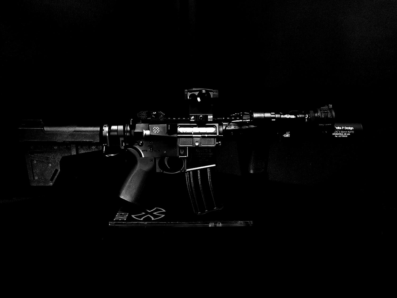 36 次世代 M4 CQB-R 電動ガン 実物 KAK SHOCKWAVE BLADE PISTOL AR-15 ストック 取付 改造 カスタム 大作戦 第7弾完結!! 最終 組み立て作業 & 初速 調整!! 実銃 ストックパイプ AR フォールディング 取付 リコイル