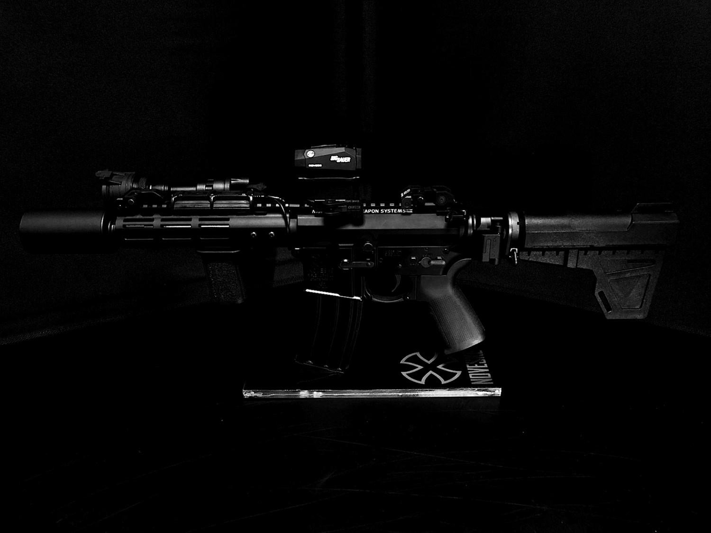 37 次世代 M4 CQB-R 電動ガン 実物 KAK SHOCKWAVE BLADE PISTOL AR-15 ストック 取付 改造 カスタム 大作戦 第7弾完結!! 最終 組み立て作業 & 初速 調整!! 実銃 ストックパイプ AR フォールディング 取付 リコイル
