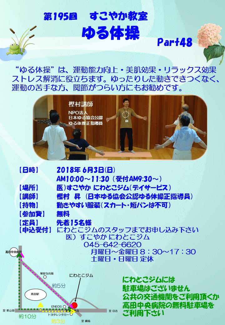 第195回すこやか教室(ゆる体操)part48