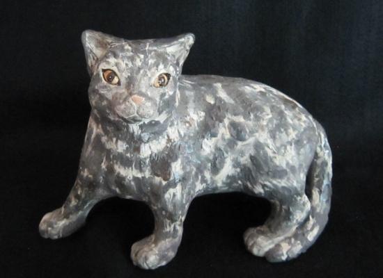 リアルとら猫 #ネコ #猫 #陶器 #陶猫芸家#招き猫 #猫作家 #めいこ