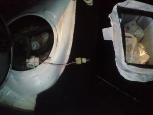 GRS180 エンジン不調修理 燃ポン確認