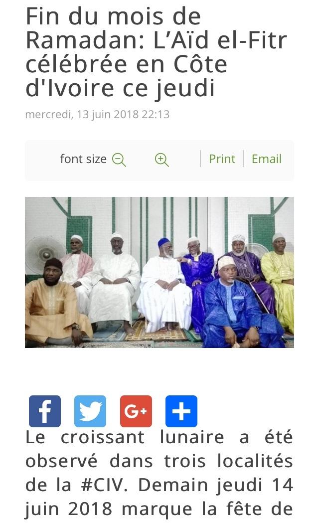 コートジボワールのイスラム教の偉い人たち