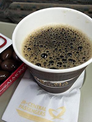 特急南紀の車内販売で買ったコーヒー
