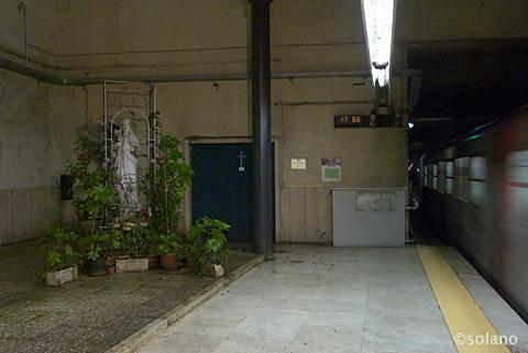 ローマメトロB線・ビラミデ、駅構内の教会