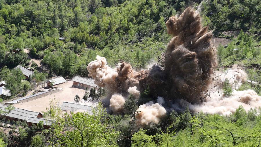 北朝鮮「核実験場の爆破」