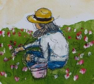花摘む少女 (300x269)