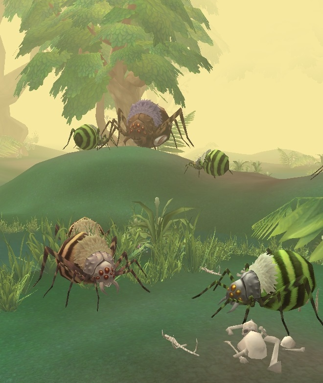 GFブログ(W10)用38A16 モヤモヤ湿地・蜘蛛どもとアルビット