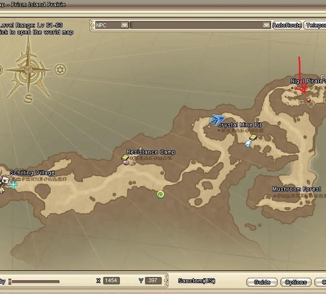 GFブログ(W10)用68B5 サンドル島のクエ・海賊ボス遠いw