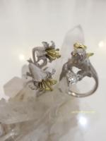 ハートカットダイアモンド天使の指輪 アトリエ✳︎ジェムカフェ