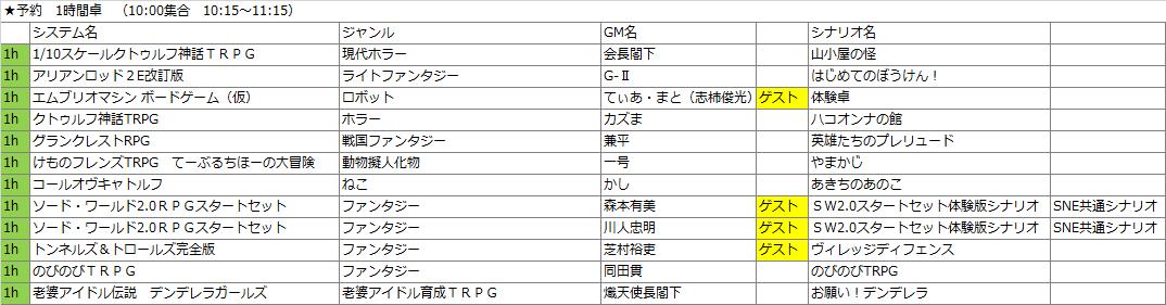 2018予約卓1h