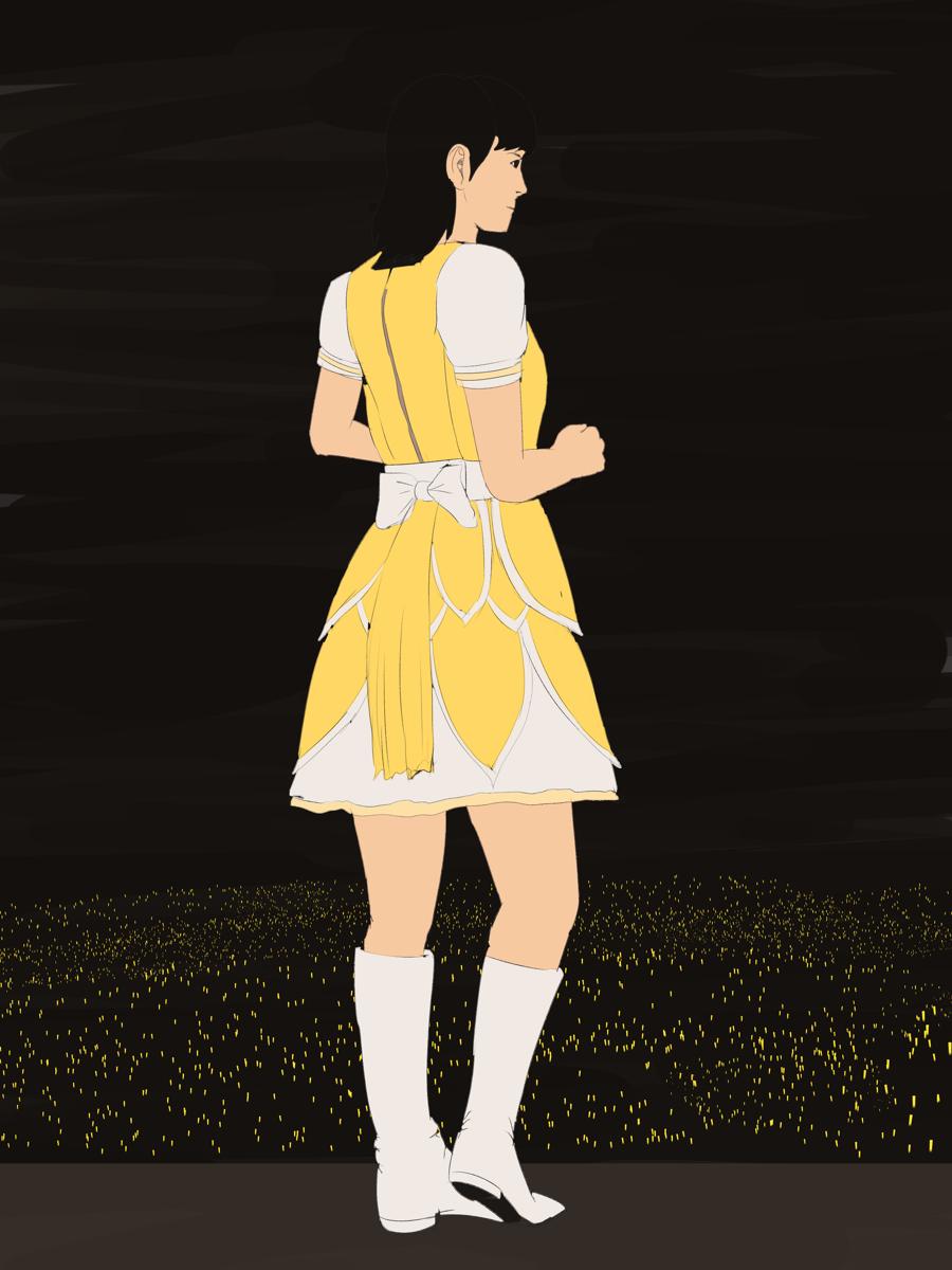 アイドルマスターの下田麻美をイメージから描く ポーズ集を参考にして