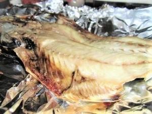 鯵,焼き魚