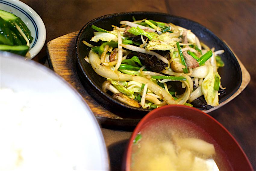 レストランきしべ@茂木町茂木 野菜炒め定食