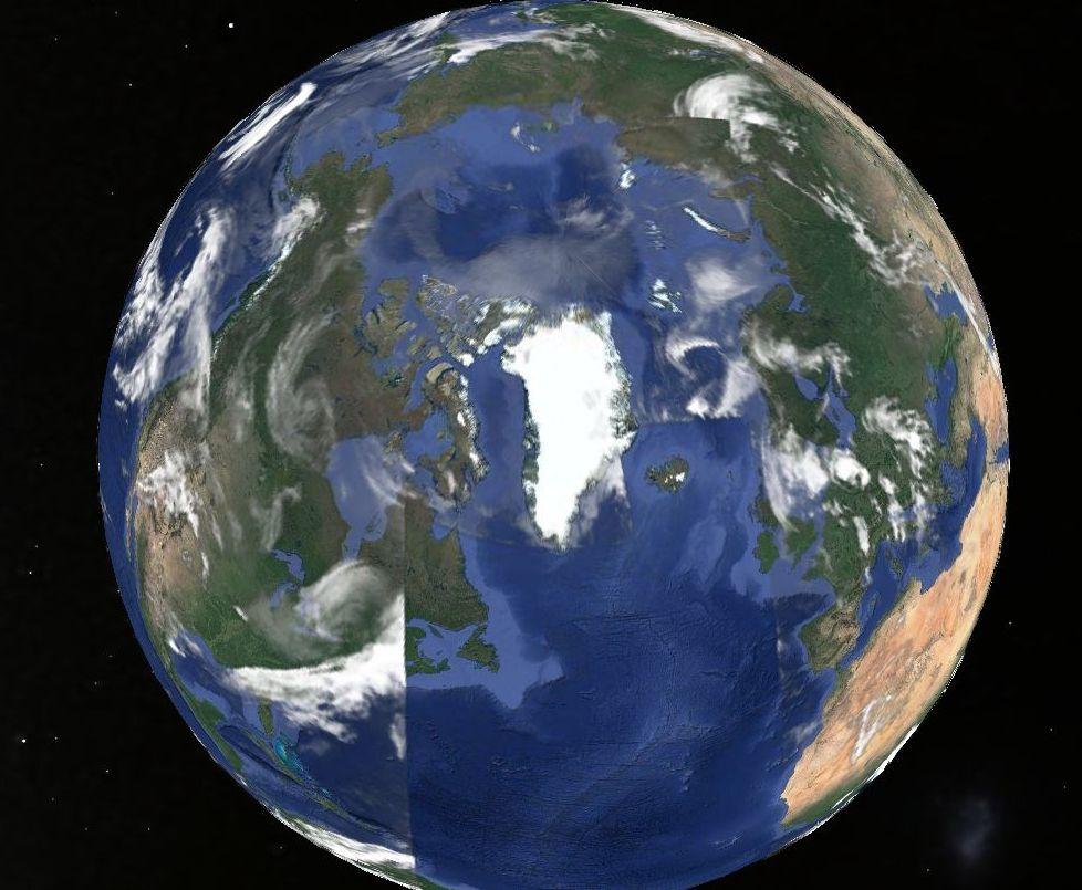 Google Earth20180405 23 24北極グリッド