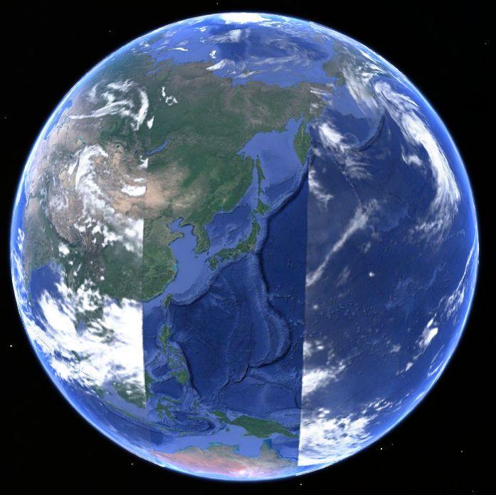地球を縦断するグリッド20180618