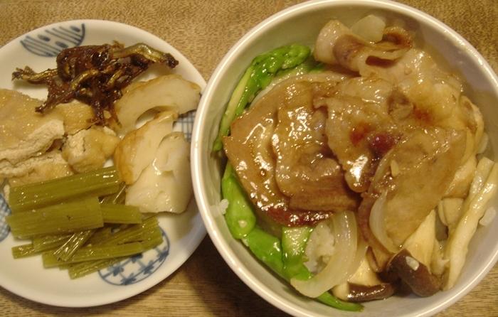 オリーブ豚の生姜焼き丼