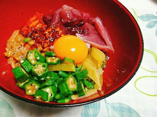 ばくだん豆腐丼【1人前糖質9.6g】ネバネバ栄養満点!低カロリーかつ低糖質!