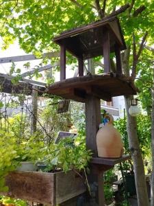 庭樹園のフィーダー