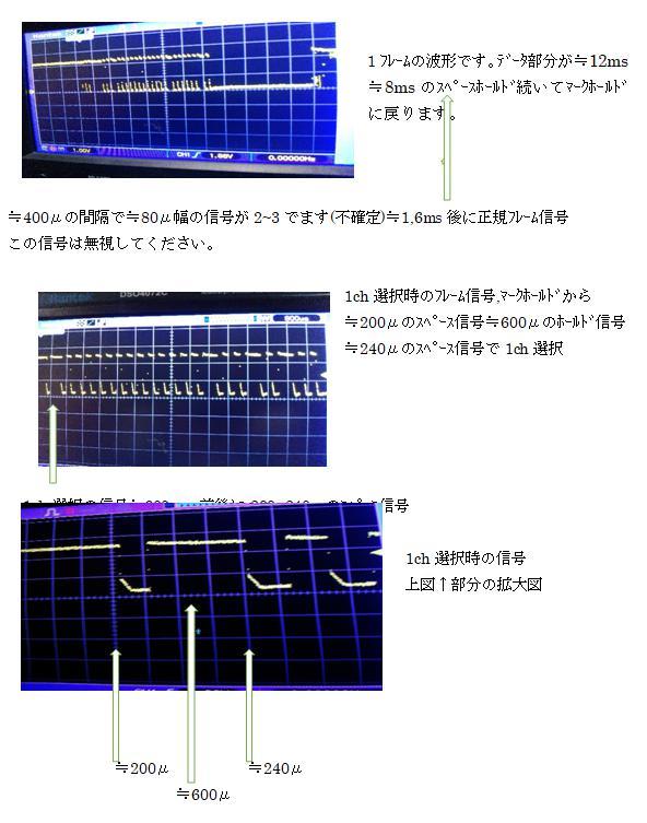 ラジコンショベルカー(COB故障をPICで補完)エンコード波形2