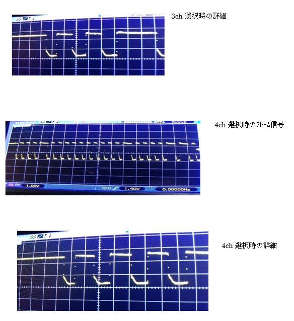 ラジコンショベルカー(COB故障をPICで補完)エンコード波形3