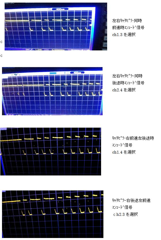 ラジコンショベルカー(COB故障をPICで補完)エンコード波形5