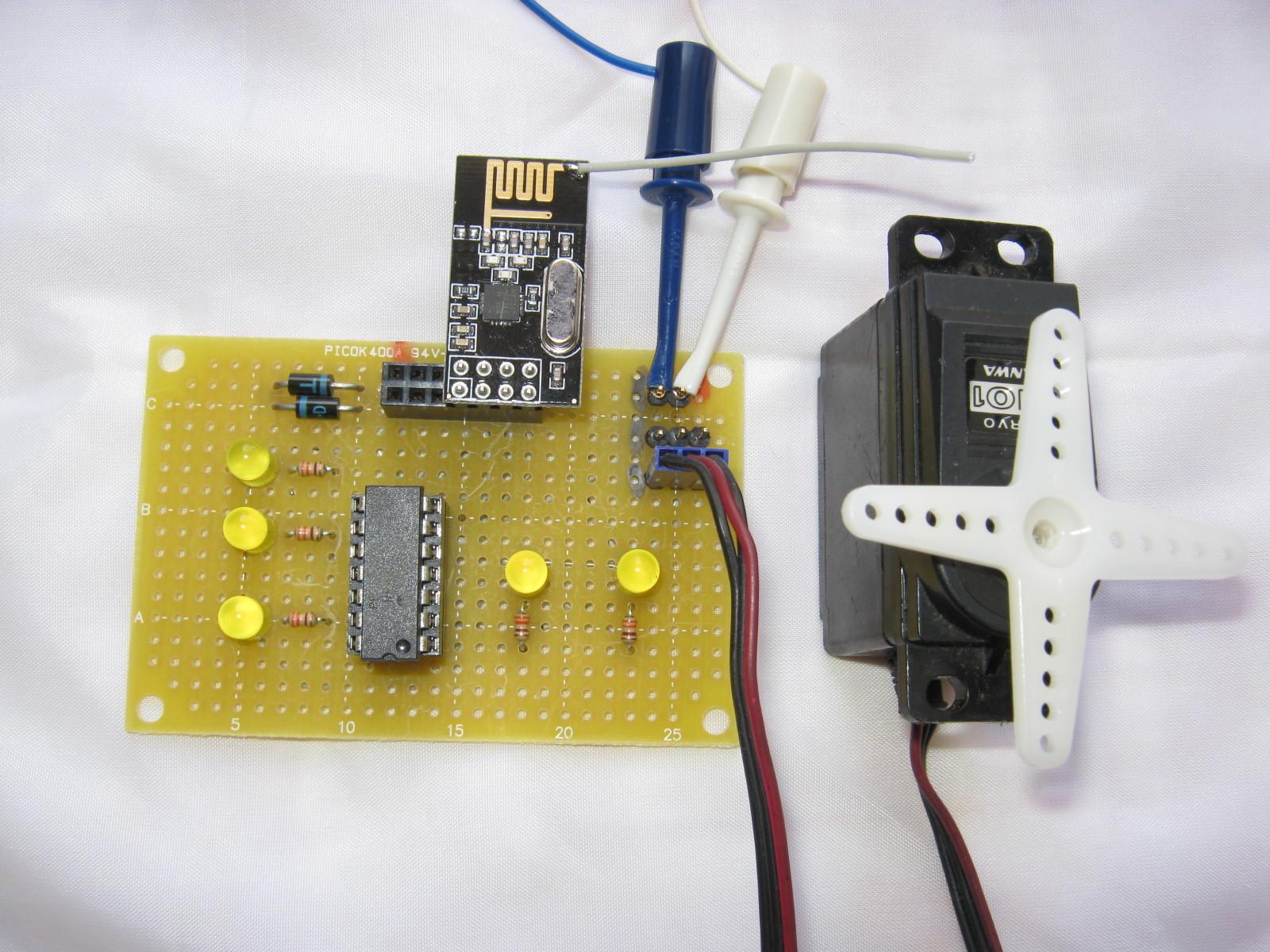 2.4GHzラジコン用ファームウェアのデモボード受信側