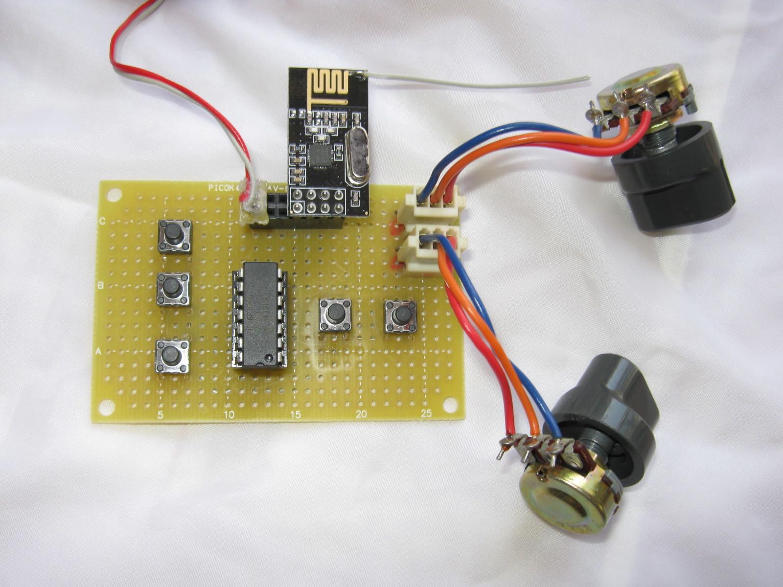 2.4GHzラジコン用ファームウェアのデモボード送信側