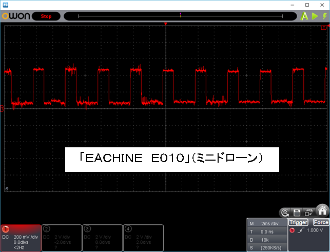 RF+IRチェッカーの製作RF評価EACHINEE010波形