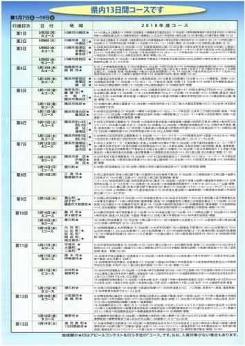 2018年平和行進(神奈川コース日程)