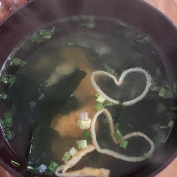 味噌汁 ハート