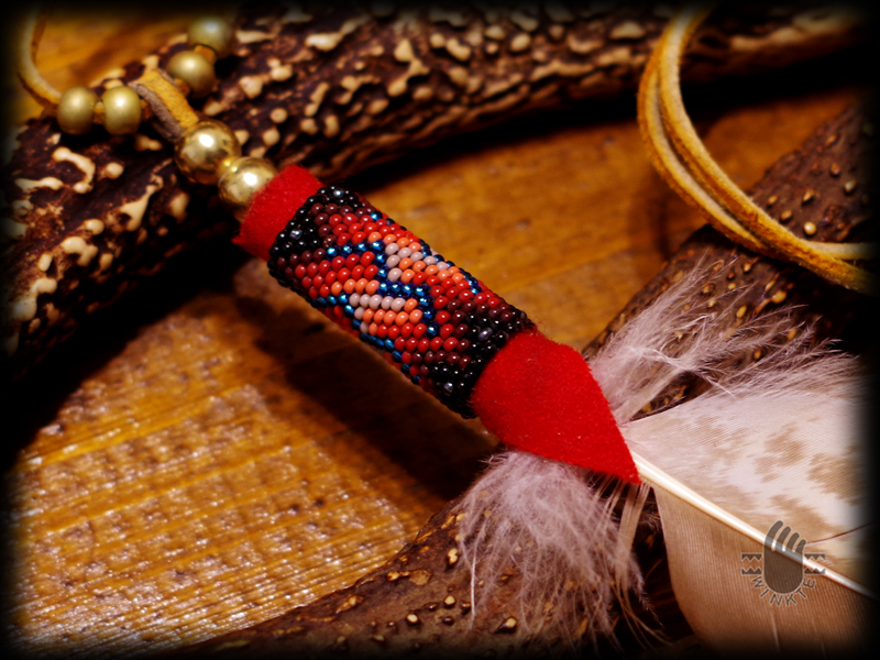 Beaded Feather Pendant Head BD ver 03