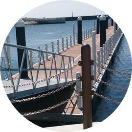 ⑧新たな浮桟橋