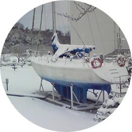 ⑪今はないヨット(冬景色)