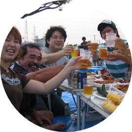 12-② 花火大会で再会・乾杯!!